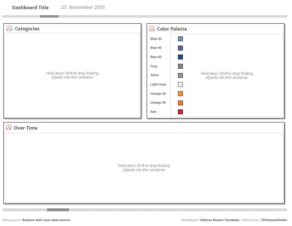 Tableau Report Template