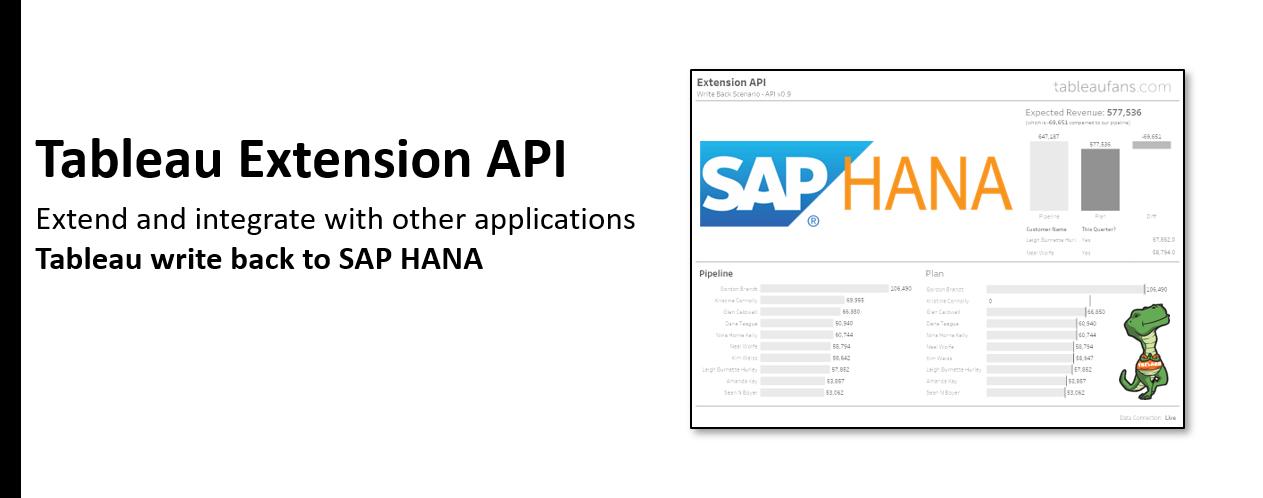 tableaufans com » How to write back data to SAP HANA?